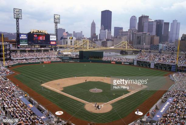 A general view of PNC Park taken during a Pittsburgh Pirates game on April 9 2001 in Pittsburgh Pennsylvania
