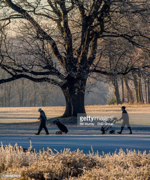 General view of Pollok Park in the frosty conditions