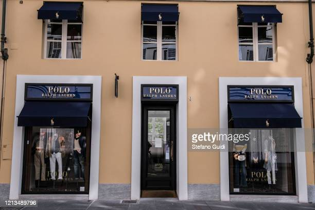 General view of Polo Ralph Lauren luxury clothing store closed in Via La Grange in Turinduring on the Italy Continues Nationwide Lockdown To Control...