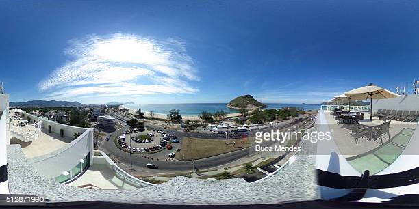 RIO DE JANEIRO BRAZIL FEBRUARY 28 General view of Pontal beach during the Caixa Brasil Race Walk Cup Aquece Rio Test Event for the Rio 2016 Olympics...