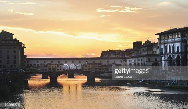 A general view of Ponte Vecchio and Uffizi Gallery on June 8 2013 in Florence Italy The latest book by the American writer Dan Brown is set largely...