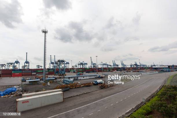 General view of Port Klang at Pulah Indah where the 1MDB fund acquired an 234 acre land originally intended for a power plant development on July 29...