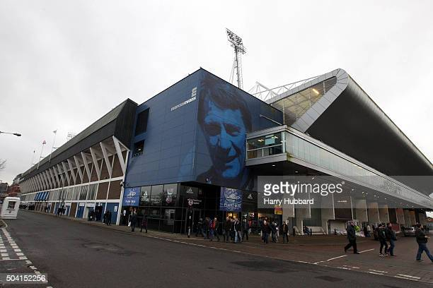 General view of Portman Road before the Emirates FA Cup Third Round match between Ipswich Town and Portsmouth at Portman Road on January 9 2016 in...
