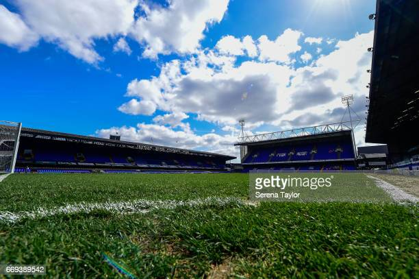 A general view of Portman Road prior to kick off of the Sky Bet Championship Match between Ipswich Town and Newcastle United at Portman Road on April...