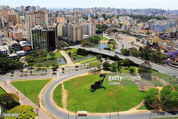general view of porto alegre downtown - porto alegre stock pictures, royalty-free photos & images