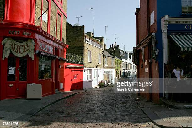 A general view of Portobello Road in Notting Hill in London on April 15 2007 in London