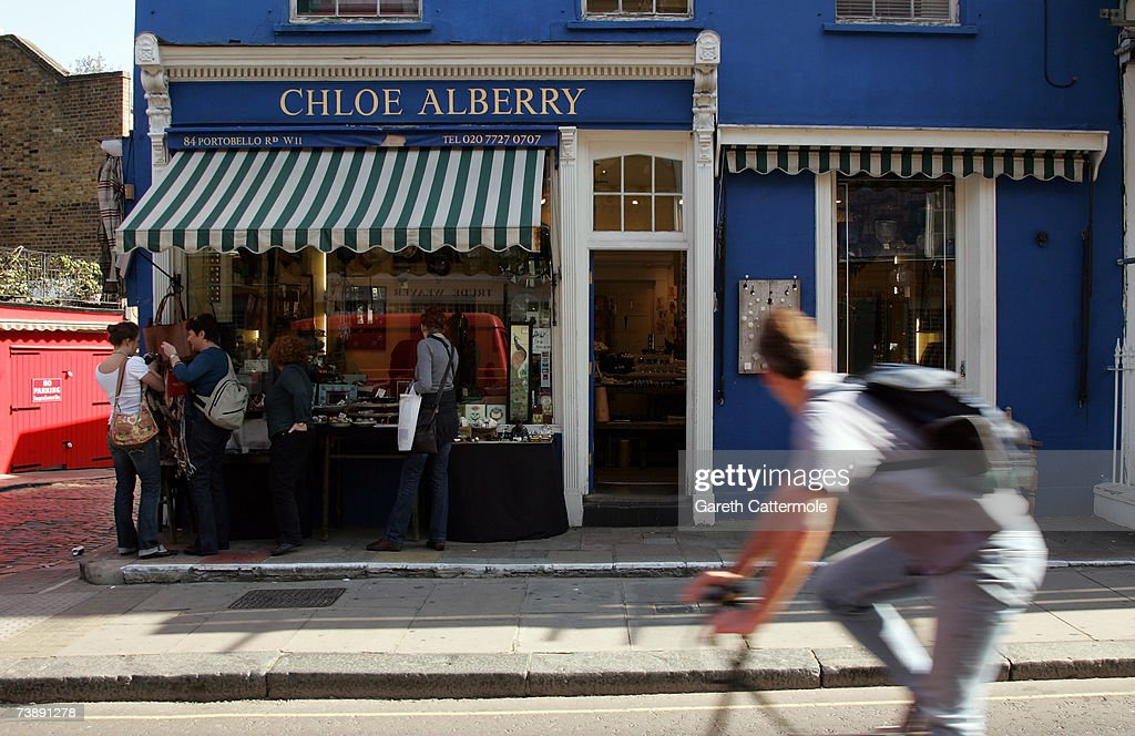 A general view of Portobello Road in Notting Hill in London on April 15, 2007 in London.