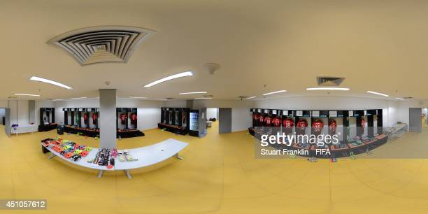 A general view of Portugal dressing room before the 2014 FIFA World Cup Brazil Group G match between USA v Portugal at Arena Amazonia on June 22 2014...