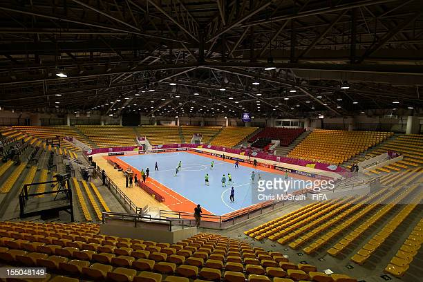 A general view of Portugal training at Korat Chatchai Hall on October 31 2012 in Nakhon Ratchasima Thailand Teams from all over the world are...