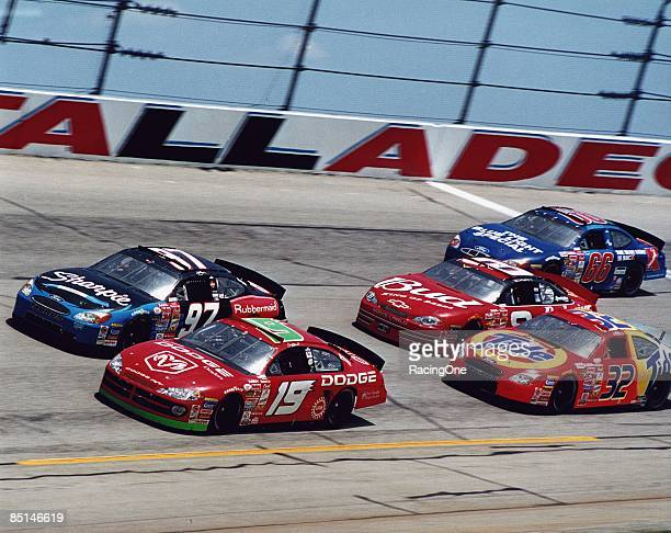 General view of practice before the Talladega 500 on April 22 2001 at the Talladega Speedway in Talladega Alabama
