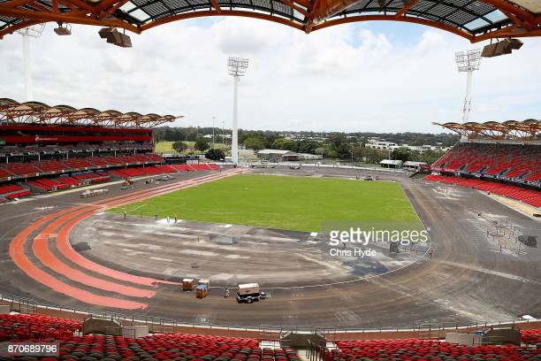 General view of preparations at Metricon Stadium on November 6 2017 in Gold Coast Australia The 2018 Commonwealth Games will be held on the Gold...