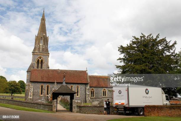 General View of preperations at St Mark's Church in Englefield where Pippa Middleton and James Matthew are planning on getting married on May 18 2017...