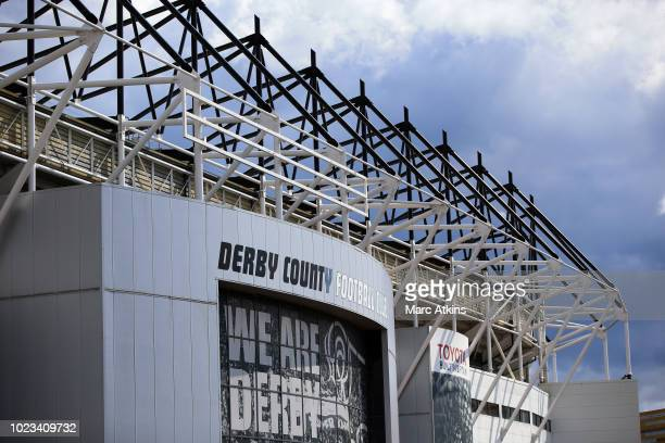 A general view of Pride Park prior to the Sky Bet Championship match between Derby County and Preston North End at Pride Park Stadium on August 25...