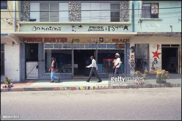 General view of Prince Buster's record shop on Orange Street Kingston Jamaica 2000