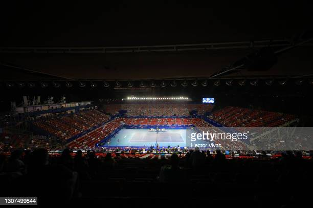 General view of Princess Mundo Imperial stadium during the Men's singles match between Diego Schwartzman of Argentina and Lorenzo Musetti of Italy as...