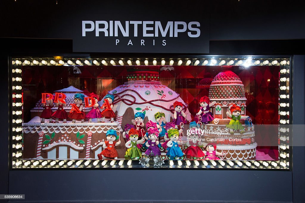 A general view of Printemps Christmas Decorations Inauguration at Printemps Haussmann, in Paris.