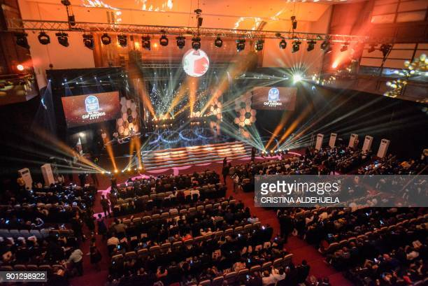A general view of proceedings at The Confederation of African Football 2017 Awards at The Accra International Conference Centre in Accra on January 4...