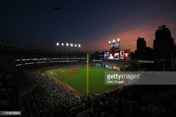 General view of Progressive Field during the 90th MLB All-Star Game at Progressive Field on Tuesday, July 9, 2019 in Cleveland, Ohio.