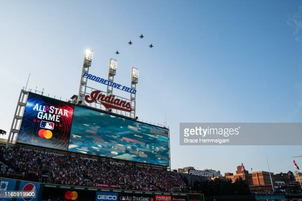 General view of Progressive Field prior to the 90th MLB All-Star Game on July 9, 2019 at Progressive Field in Cleveland, Ohio.