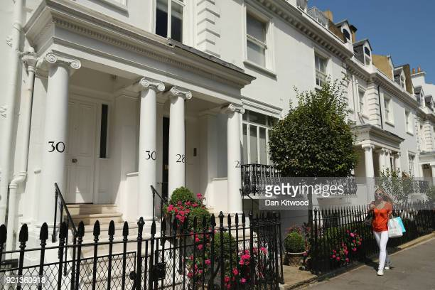 General view of properties in Knightsbridge on August 6, 2014 in London, England.