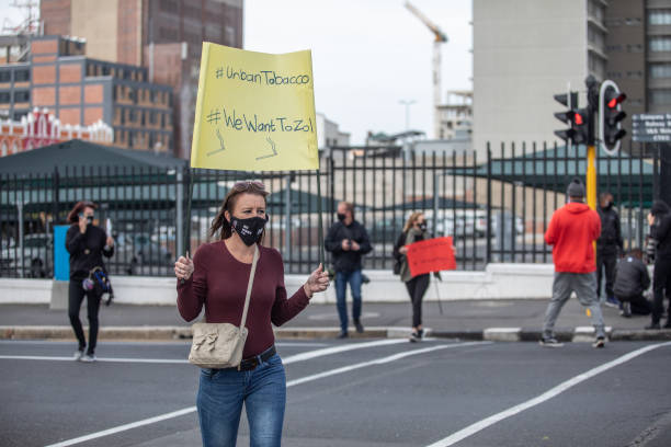 ZAF: Protesters in Cape Town march to Parliament amidst tobacco ban in South Africa