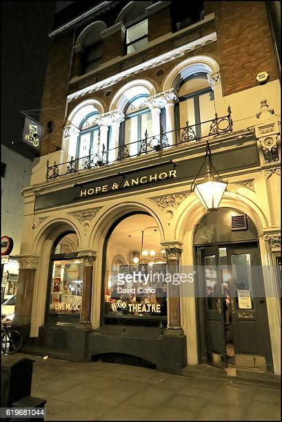 General view of pub and music venue The Hope Anchor on Upper Street in Islington London N1 14 October 2016 The venue is most associated with the pub...