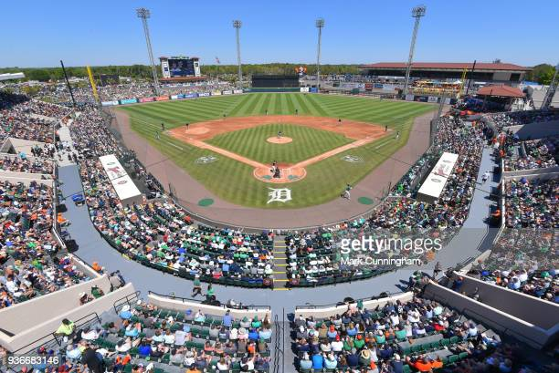 A general view of Publix Field at Joker Marchant Stadium during the St Patricks Day Spring Training game between the Detroit Tigers and the New York...