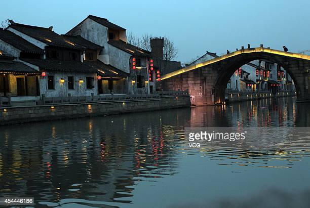 A general view of Qingming bridge over the Grand Canal of China on February 25 2011 in Wuxi China After 8 years of application preparation the Grand...