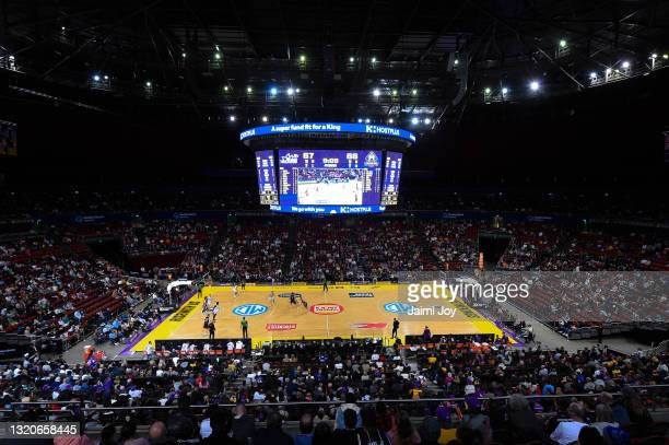 General view of Qudos Bank Arena during the round 20 NBL match between Sydney Kings and Melbourne United at Qudos Bank Arena, on May 29 in Sydney,...