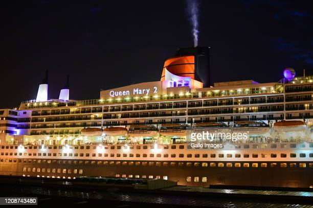 General view of Queen Mary 2 cruise ship on Day Five of National Lockdown on March 31, 2020 in Durban, South Africa. According to media reports,...