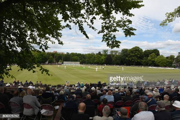 General View of Queen's Park during the Specsavers County Championship Division Two match between Derbyshire and Durham on July 3 2017 in...