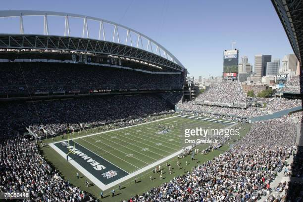 General view of Qwest Field during the NFL game between the Seattle Seahawks and the New York Giants on September 24, 2006 in Seattle, Washington....