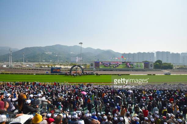 General view of Race 1 during Longines Hong Kong International Race Day at Sha Tin Racecourse on December 10 2017 in Hong Kong Hong Kong
