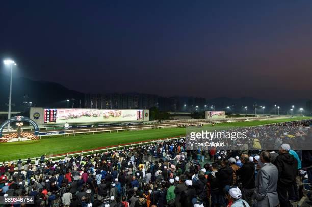 General view of Race 10 during Longines Hong Kong International Race Day at Sha Tin Racecourse on December 10 2017 in Hong Kong Hong Kong