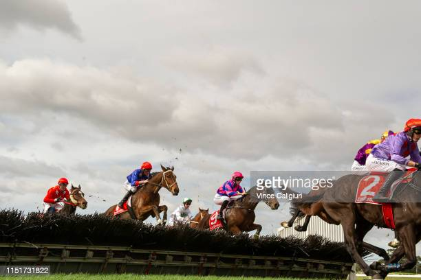 General view of Race 2, Ladbrokes Odds Boost Hurdle during Australian Hurdle and Steeplechase Day at Sandown Lakeside on May 26, 2019 in Melbourne,...