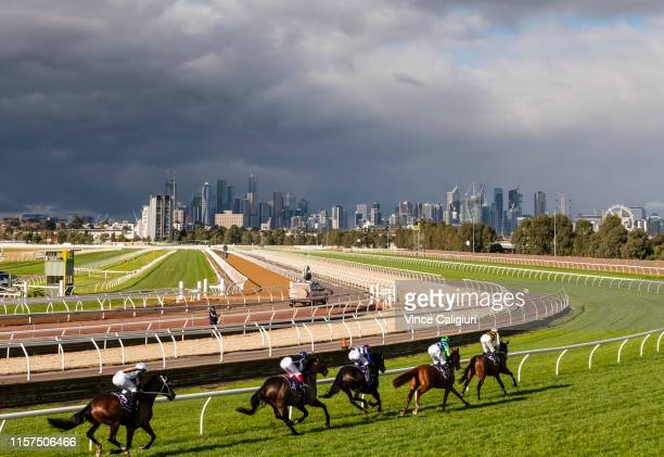 General view of Race 4 during Melbourne Racing at Flemington Racecourse on June 22 2019 in Melbourne Australia