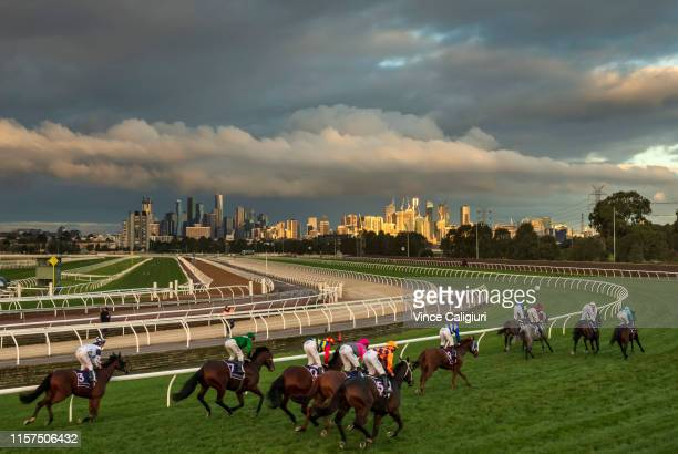 General view of Race 9 during Melbourne Racing at Flemington Racecourse on June 22 2019 in Melbourne Australia