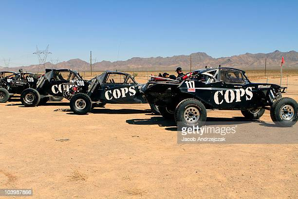 A general view of race preparations in honor of the 800th episode of COPS on September 10 2010 in Primm Nevada