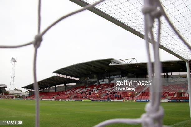 General View of Racecourse Ground prior to the PreSeason Friendly match between Wrexham and Stoke City at Racecourse Ground on July 17 2019 in...