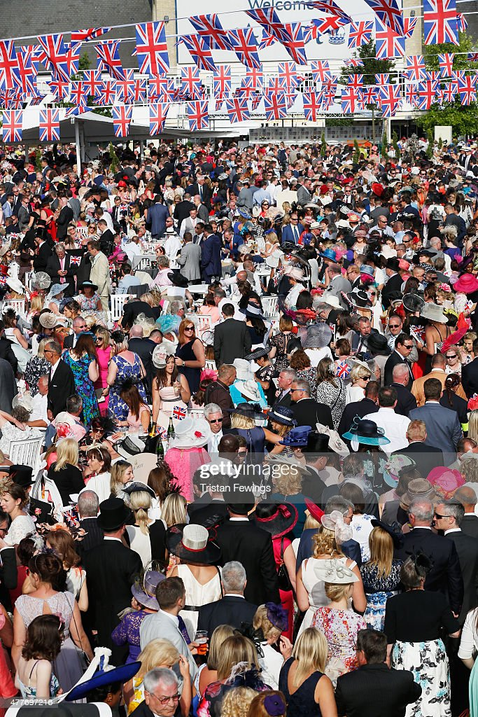 A general view of racegoers around the bandstand during Royal Ascot 2015 at Ascot racecourse on June 18, 2015 in Ascot, England.