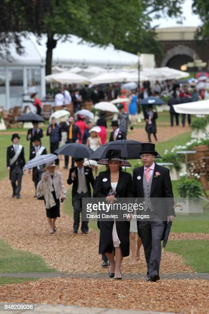 General view of racegoers at Royal Ascot on Ladies Day