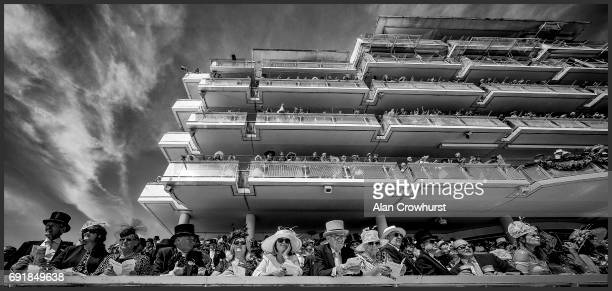 A general view of racegoers on Investec Derby Day at Epsom Racecourse on June 3 2017 in Epsom England