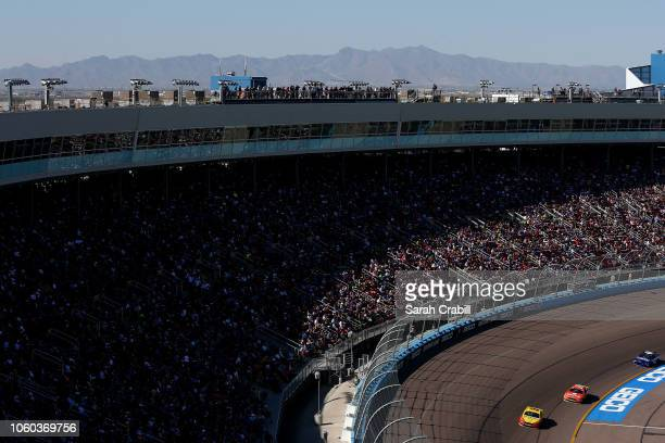A general view of raceing during the Monster Energy NASCAR Cup Series CanAm 500 at ISM Raceway on November 11 2018 in Phoenix Arizona
