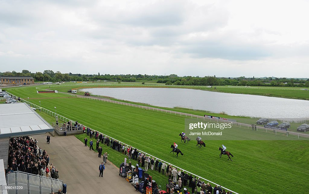 A general view of racing during racing at Huntingdon race course on May 22, 2013 in Huntingdon, England.