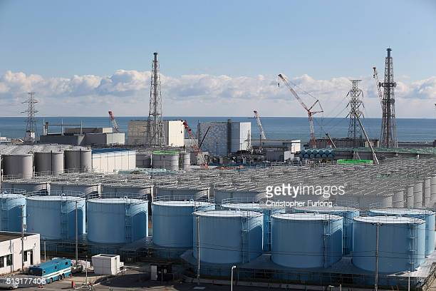 A general view of radiation contaminated water tanks and the damaged reactors at Fukushima Daiichi nuclear power plant Five years on the...