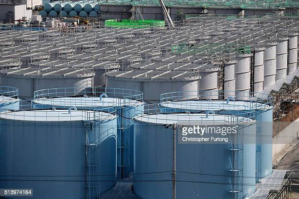 A general view of radiation contaminated water tanks at Fukushima Daiichi nuclear power plant Five years on the decontamination and decommissioning...