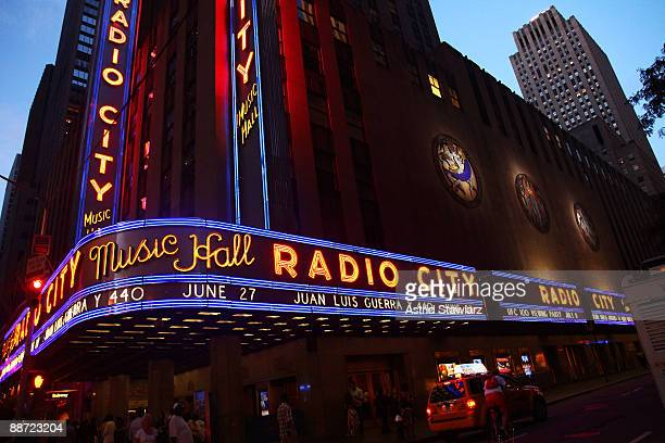 A general view of Radio City Music Hall where in 1994 Michael Jackson and his thenwife Lisa Marie Presley kissed at the MTV Video Music Awards on...