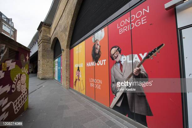 General view of railway arches which are being re-purposed as a new shopping destination on Bermondsey Road, London Bridge on February 4, 2020 in...