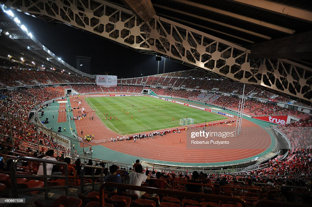 General view of Rajamangala Stadium during the international friendly match between Thai Premier League All Stars and Liverpool FC on July 14, 2015 in Bangkok, Thailand.