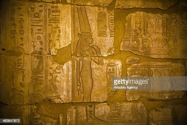 A general view of Ramesses III Mortuary Temple also known as Medinet Habu Complex in west of Luxor Egypt on February 19 2015 The Temple is an...